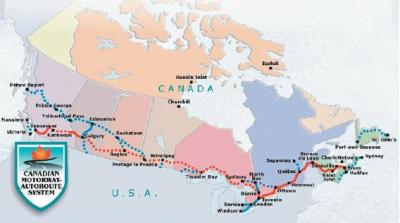 Canadian Highway Map on